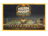 Golden Nugget Gambling Hall, Las Vegas, Nevada Kunstdrucke