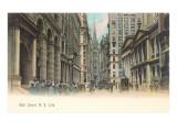 Colorized Wall Street Scene, New York City Kunstdrucke