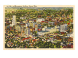 Stadtzentrum Akron, Ohio Kunstdrucke