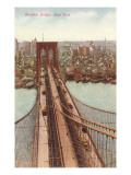 Le pont de Brooklyn, New York City Posters