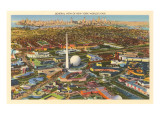 Overview of New York World's Fair, 1939 Póster