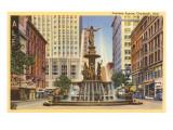 Fountain Square, Cincinnati, Ohio Poster