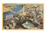 Luftansicht von Columbus, Ohio Kunstdrucke