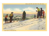 Skiers, Lake Placid, New York Affiches