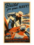 Build for Your Navy, Enlist! WW II Poster Arte