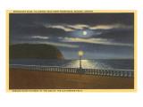Moon over Tillamook Head, Seaside, Oregon Poster