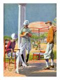 Twenties Polo Match Print