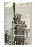 Construction of the Statue of Liberty Julisteet