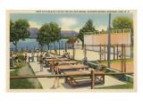 Ping Pong at Schroon Lake, New York State Kunstdrucke