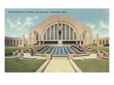 Cincinnati Union Terminal and Fountain, Cincinnati, Ohio Kunstdrucke