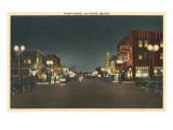 Vintage Night Scene, Las Vegas, Nevada Kunst