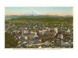 Mt. Hood over Portland, Oregon Kunstdruck