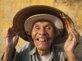 Vietnam, Hoi An, Portrait of Elderly Fisherman Photographic Print by Steve Vidler