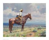 West Texas Cow Hunter Affiches par Martin Grelle