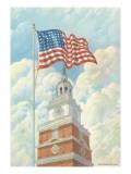 Flag over Indepence Hall, Philadelphia, Pennsylvania Art