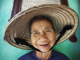 Vietnam, Hoi An, Portrait of Elderly Woman Photographic Print by Steve Vidler