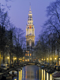 Zuiderkerkand Canal at Night, Amsterdam, Holland Photographic Print by Jon Arnold