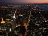 New York City at Night Fotografisk trykk av Felipe Rodriguez