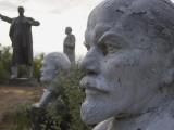 Lenin Statues, Semey, Kazakhstan Photographic Print by Ian Trower