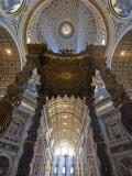 Detail of Bernini's Baroque Baldachin, St Peter's Basilica, Rome, Italy Photographic Print by Michele Falzone