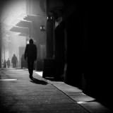 City Streets in Fog Reproduction photographique par Sharon Wish