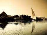 Egypt, Aswan, Felucca and Nile River Photographic Print by Michele Falzone