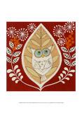 Autumn Owl Print by Helen Rhodes