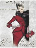 Paris Style Femme Poster von Chad Barrett