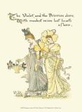 Shakespeare's Garden XI (Violet & Primrose) Posters por Walter Crane