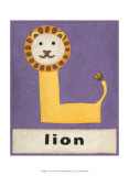 L is for Lion Poster by Chariklia Zarris