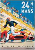 Le Mans 20 et 21 Juin 1959 Juliste tekijänä  Beligond