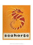 S is for Seahorse Posters by Chariklia Zarris