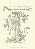 Shakespeare's Garden VII (Forget me not) Kunstdrucke von Walter Crane