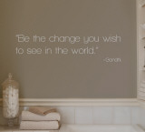 Change - Gandhi - Grey Wall Decal