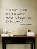 Hard to Fail - Theodore Roosevelt Wandtattoo