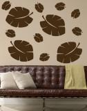 Brown Tropical Leaves Muursticker