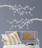 Grey Cherry Blossom Branch Vinilo decorativo
