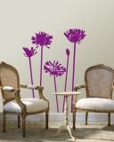 Purple Agapanthus Vinilo decorativo