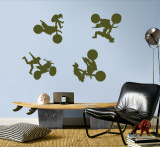 Motocross - Army Green Wall Decal