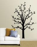 Black Floral Tree Vinilo decorativo