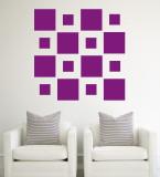 Purple Squares Väggdekal