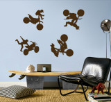 Motocross - Brown Wall Decal