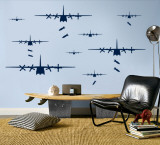 Bomber Airplanes - Navy Wall Decal