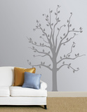 Grey Tree Wall Decal