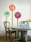 Gerberas with Stems Autocollant mural