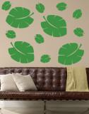 Green Tropical Leaves Muursticker