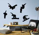 Snowboarders - Black Autocollant mural