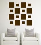 Brown Squares Veggoverføringsbilde