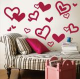 Red Hearts Veggoverføringsbilde