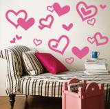 Light Pink Hearts Veggoverføringsbilde